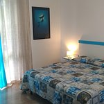 Camera Blue double bed
