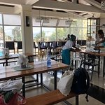 clean, light, airy, a welcoming space which it was a pleasure to dine in