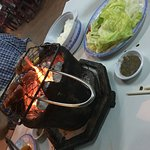 bbq with side salad