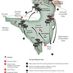 Tanzania and Kenya Great Migration Route Map