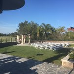 Side view of wedding ceremony area.