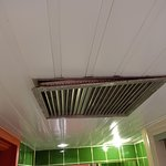 The vent grille in the bathroom