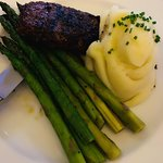 Steak dinner with Asparagus and Mashed Potatoes