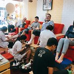 We Service spa manicure and foot scrub for man also, (scrub and massage, removes some skin ....)  Many man very happy after they do it. And you???:)))