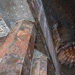 Ajanta Caves: Interior detail of painted artwork
