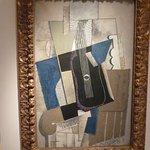 Auf der Rückseite dieses Picasso ist die Geschichte des Bildes dokumentiert (leider Fotoverbot der Rückseite)