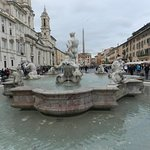Visone di Piazza Navona dalla fontana del moro