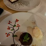 Chocolate mousse and molten chocolate cake