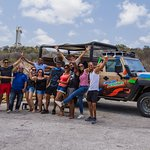 Group Picture at Director's Bay stop of our Jeep and Snorkel Adventure Tour