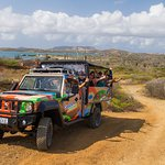Passing by St Joris Bay of our Jeep and Snorkel Adventure Tour