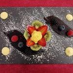 Cestino di pasta frolla con crema e frutta