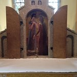 Altar carved out of local Cornish stone