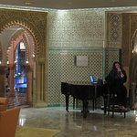 Piano player in upper lobby