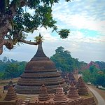 from hill view, one of sunset hill, Mrauk U have so many hill to enjoy sunset and sunrise