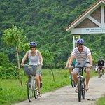 biking in Viet Hai village