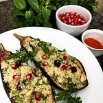Stuffed Eggplant - Vegan.