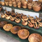Beautiful - all sizes- hand made Olive Wood bows and  mortal and pestles for all kind of uses !