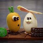 coniglio e carota in cioccolato