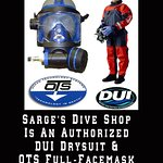 Sarge's is an authorized dealer with DUI drysuits & Interspiro, and OTS full-face masks & u/w communications.