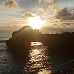 sunset at batu bolong is one area with tanah lot temple www.uluwatubalidriver.com