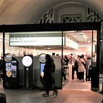 Entrance to gift shop at top of Arc de Triomphe.