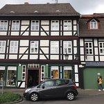 Historischer Blaudruck aus dem historischen Stadtkern von Einbeck