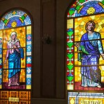 Kirken - meget flotte glasmotiver