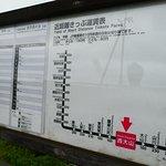 指宿枕崎線はとても本数が少ない電車で、西大山駅には1時間に0ないし1本(上り・下り合わせて)しか電車が来ません。 駅に停車する電車を見たければ事前に時刻表をチェックしないと1時間以上待つこともありえます。