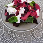 Lot's of vegeterian options and meals -refreshing beetroot salad