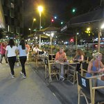 Outside seating still busy