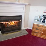 Fireplaces and Coffee Stations in every room