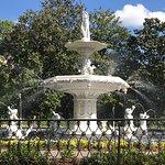 Fountain on a sunny day