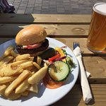 Manor House burger was great. Home made chips were excellent.