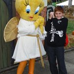 Me With Tweety Bird As An Angel. Making A Cute Pose.