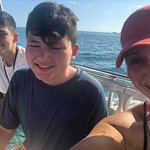 My boys and I on the boat.
