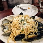 clams and mussels + pasta