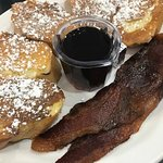 French Toast with Bacon at Cafe Stephanie in Newport