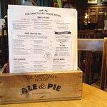 Comprehensive pub food menu
