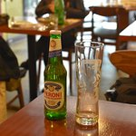 a bottle of Peroni beer from Italy