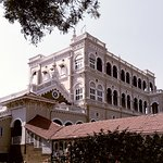 The majestic facade of Aga Khan Palace, Pune