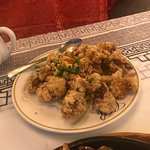 Awesome salt & pepper soft shell crab, shrimp fried rice and sizzling Kung pao trio.