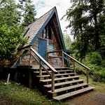 Your choice of accommodation to fit your lifestyle. Pictured: a-frame cabin