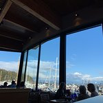 Amazing views from inside Anthony's Restaurant in Anacortes, Washington.