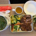 Beef pho, duck rice and spring roll