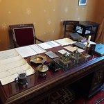 Desk in his study