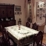 Dining room with exhibits