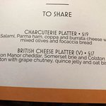 See main review - room service menu - cheese plate for £17