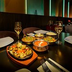 Delicous curry & tandoor dishes alongside excellent wines