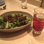 Mongolian Beef Lettuce... also delicious! Come to think of it, so was this drink... although I c