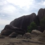 Batu dinding beach Bangka island by : bangkatour.com